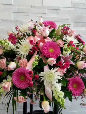 Pink Garden Casket Spray