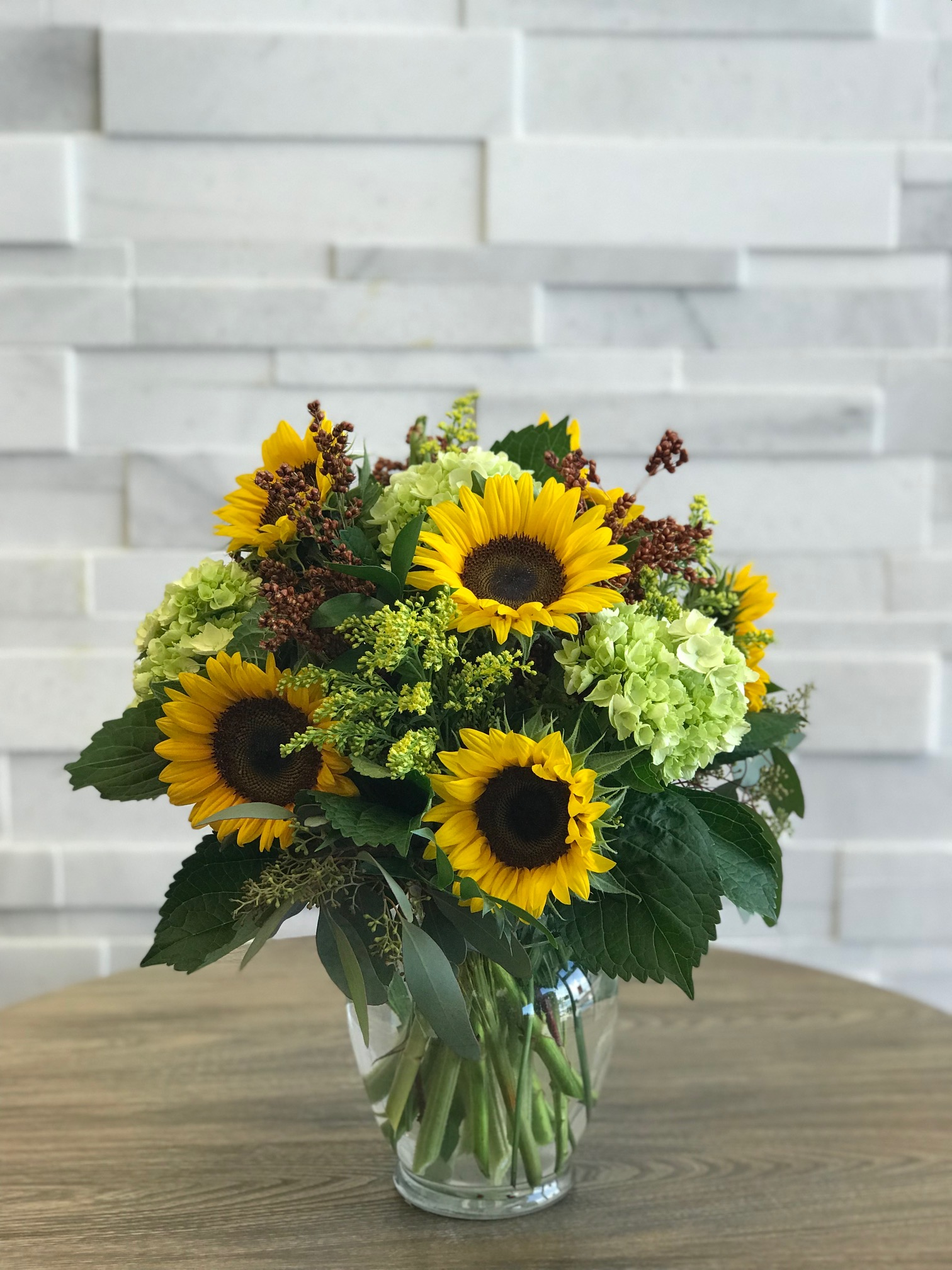 Sunflower Delight fall arrangement