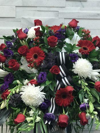 Divine Elegance Casket Spray, Funeral Flowers