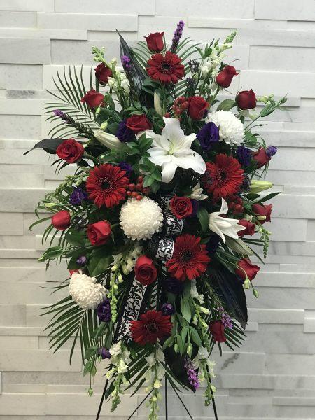 Divine Elegance Standing Spray, Funeral Flowers