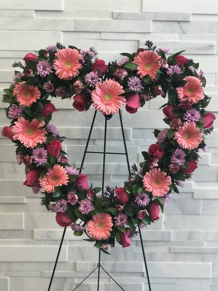 Garden Rose Heart Sympathy Flowers
