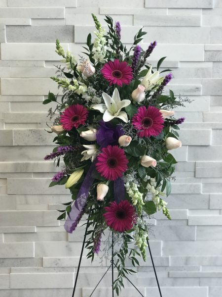 Heavenly Grace Standing Spray Sympathy Flowers