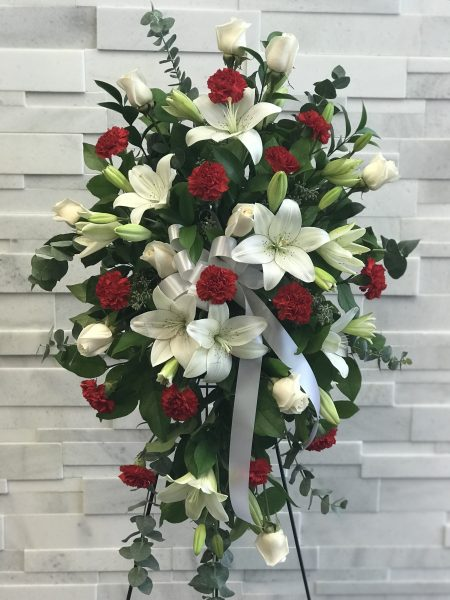 Sweet Rememberance Standing Spray Sympathy flowers