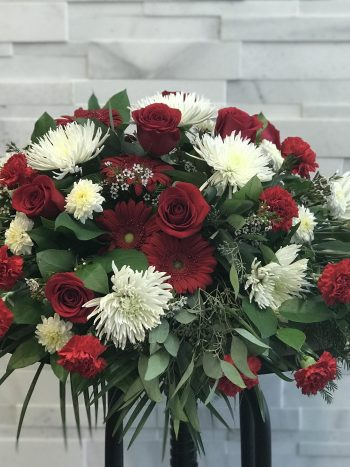 Sweet Remembrance Casket Spray, Funeral Flowers