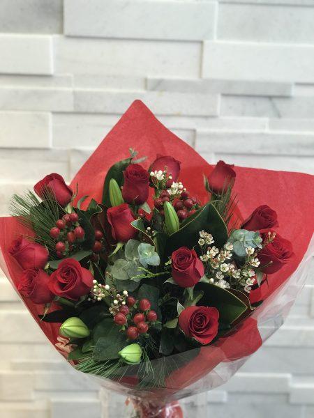 Festive Rosey Bouquet