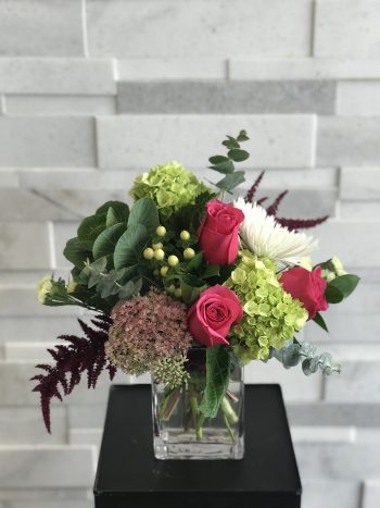 Flourishing Fuchsia Fall Flower Arrangement